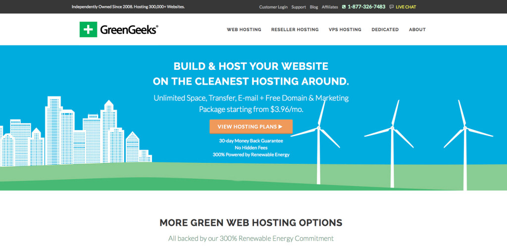 green_geeks_main_page