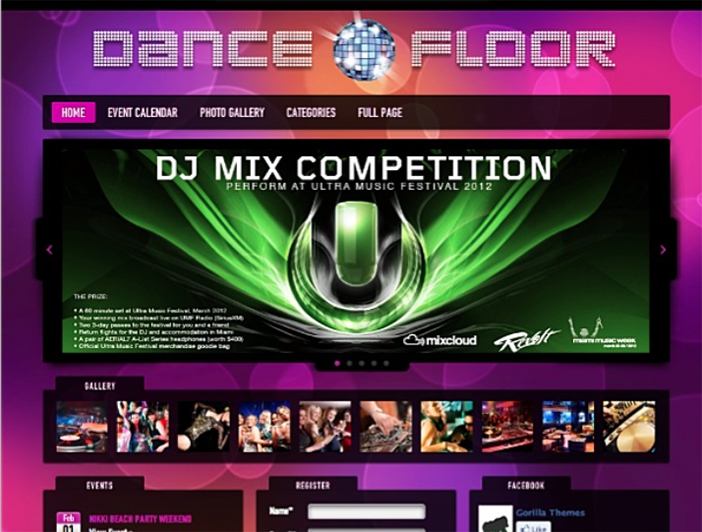 Dancefloor Dj wordpress theme