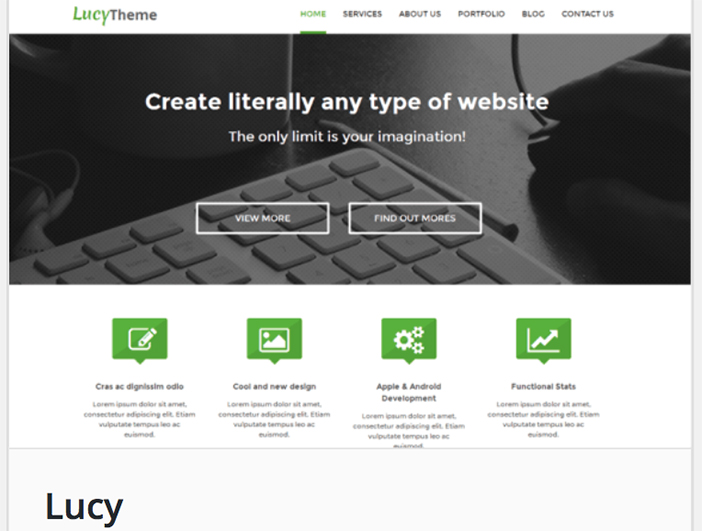 Lucy wordpress theme