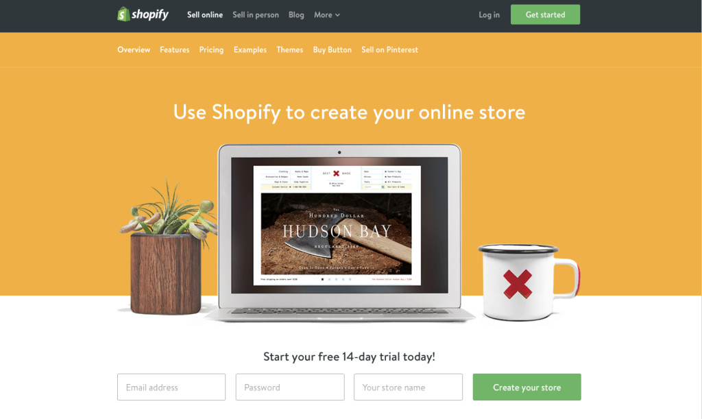 make an online store using shopify